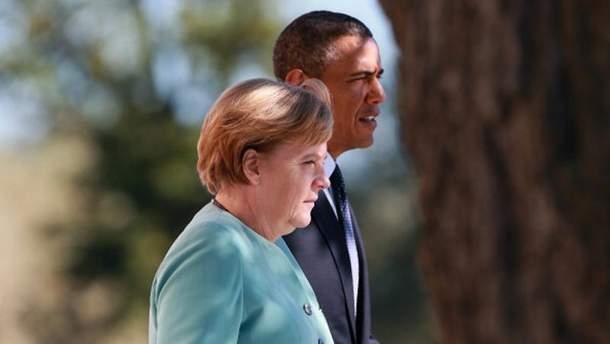 А. Меркель і Б. Обама