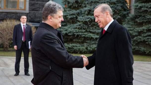 Порошенко зустрівся з Ердоганом