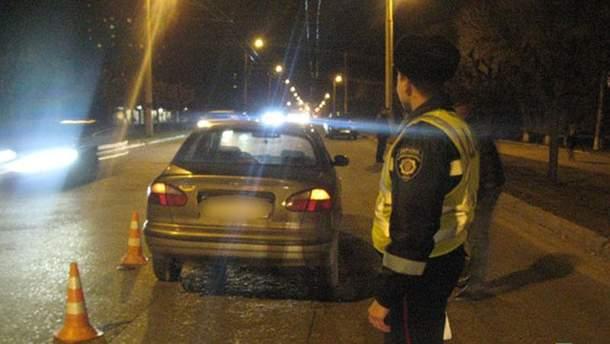 Место аварии в Краматорске