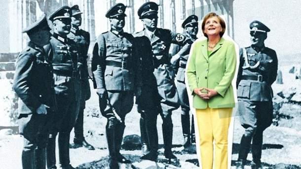 Меркель в окружении нацистов