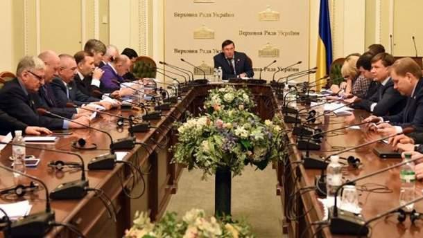 Рада фракції БПП під час засідання