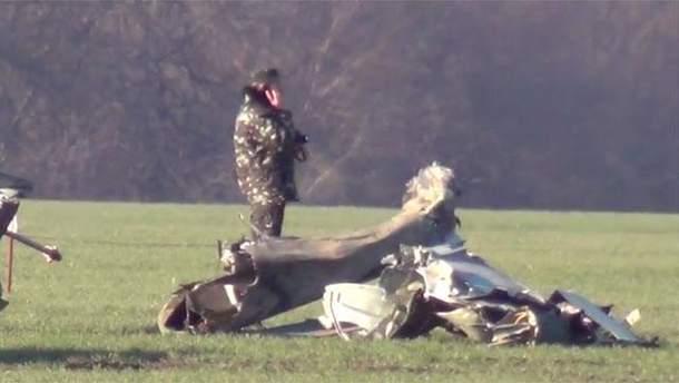 Место падения Ми-24