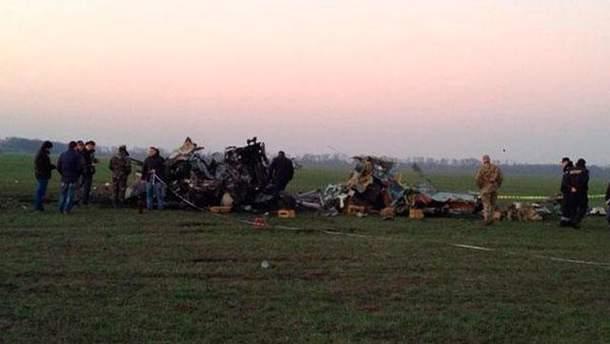 Место аварии  Ми-24