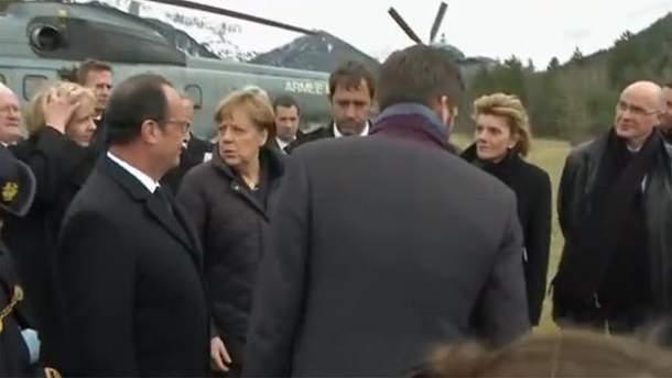 Франсуа Олланд и Ангела Меркель