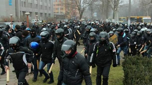 """Титушки"" атакуют одесский Евромайдан 19 февраля"