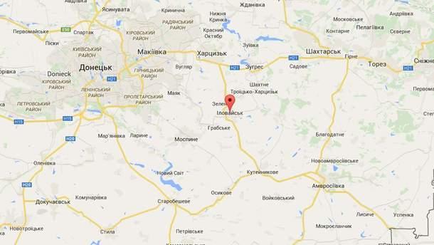 Іловайськ на мапі