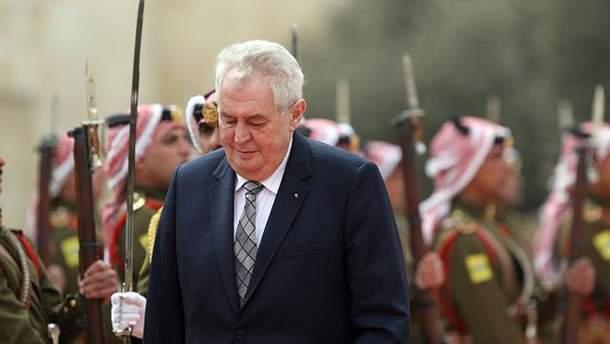 Президент Чехии Милош Земан