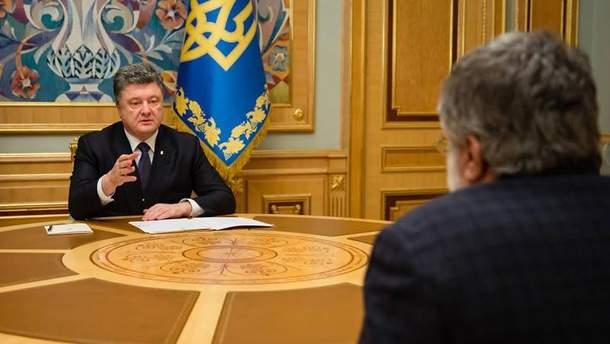 П. Порошенко та І. Коломойський