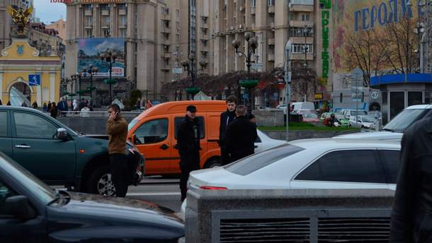 Сын Порошенко попал в ДТП в центре Киева