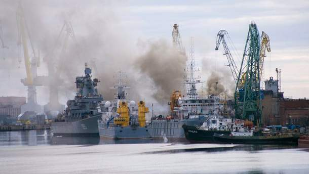 Пожежа на підводному човні в Росії