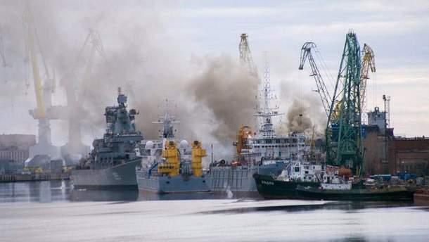 Пожар на подводной лодке в России
