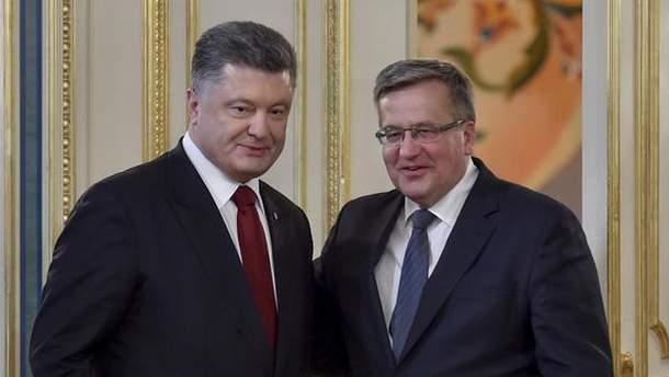 Петро Порошенко та Броніслав Коморовський