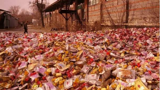 Конфеты на улицах Донецка