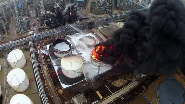 Пожежа на заводі в Китаї