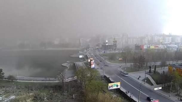 Песчаная буря в Хмельницком