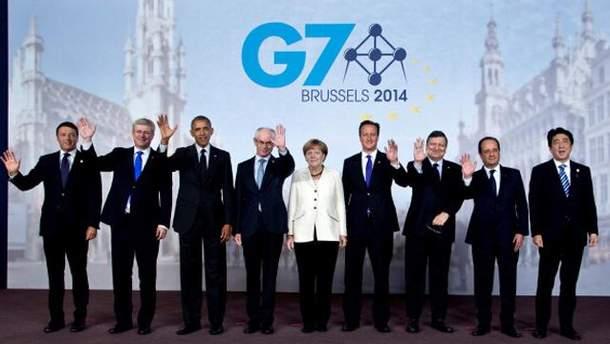 Лідери G7 та Євросоюзу