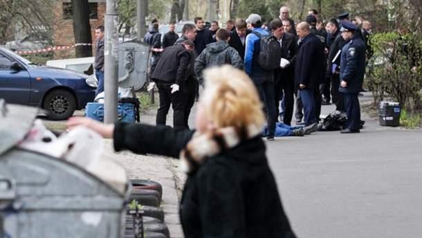 На місці вбивства Олега Бузини