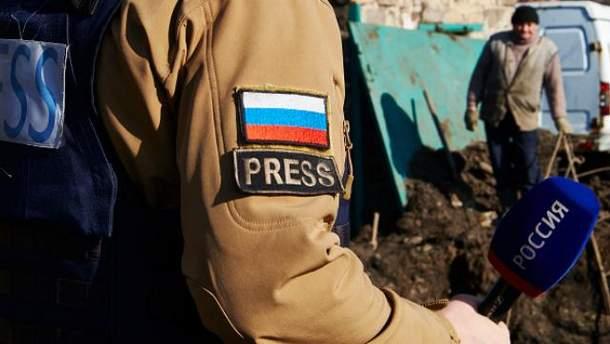 Российские журналисты на Донбассе
