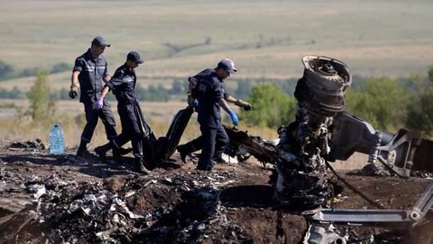 Місце падіння збитого Boeing рейсу МH17