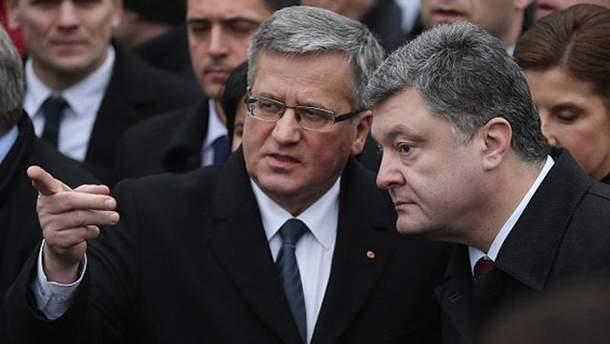 Броніслав Коморовський і Петро Порошенко