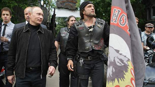 Володимир Путін і байкери