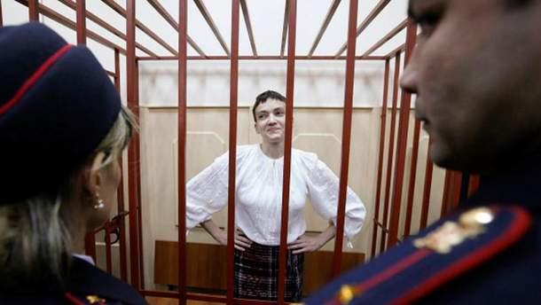 Надія Савченко у вишиванці