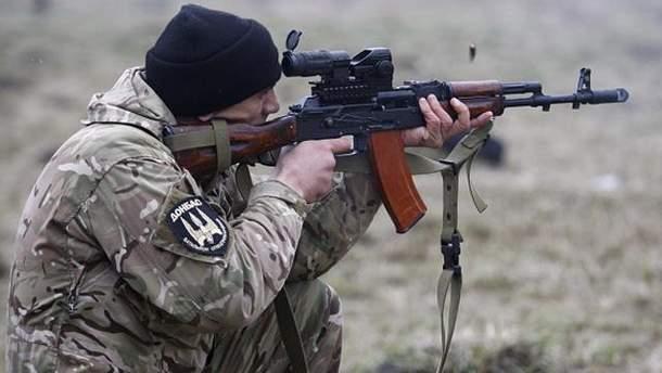 Украинский солдат