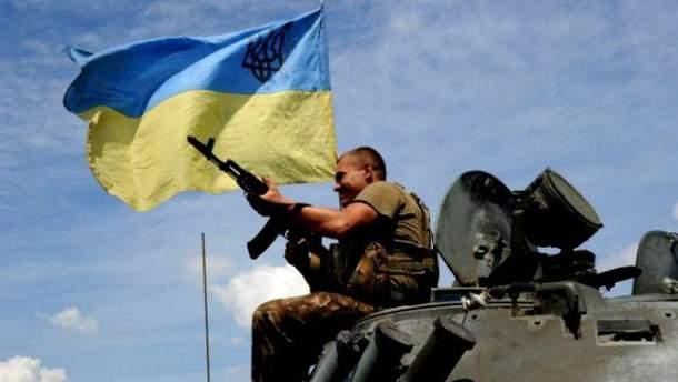 Украинский боец