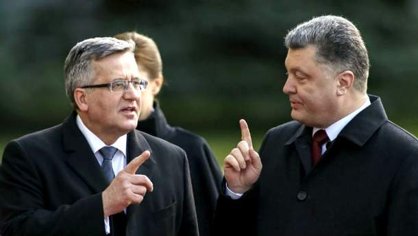 Коморовский и Порошенко