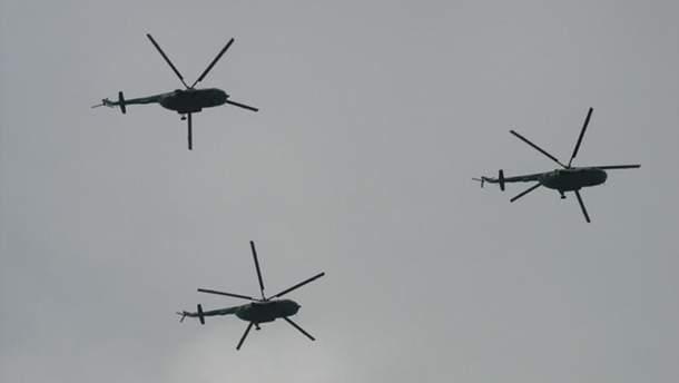 На границе Украины зафиксировали сразу 8 российских вертолетов