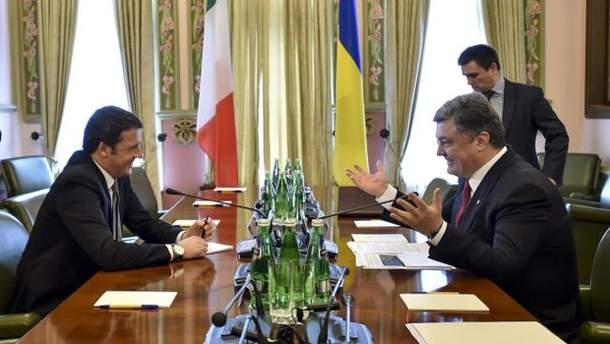 Премьер-министр Италии Маттео Ренци и Петр Порошенко