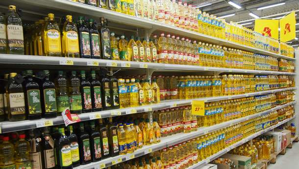 Масло в супермаркете