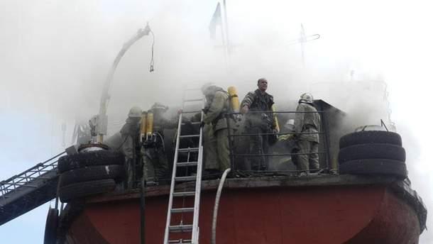 Пожар на судне