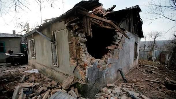 Разрушение на Донбассе