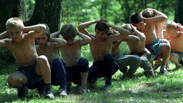 Дети на тренировке