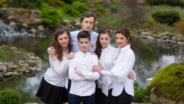 Марина Порошенко с детьми