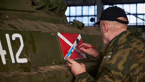 Боевики восстанавливают военную технику