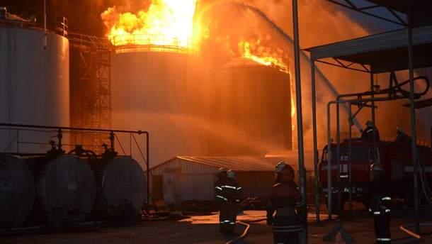 Пожар на нефтехранилище
