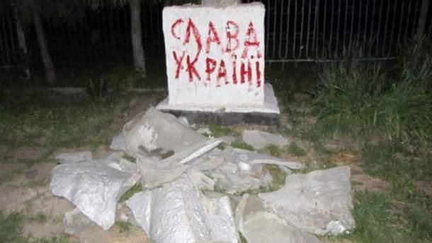 Звалений Ленін