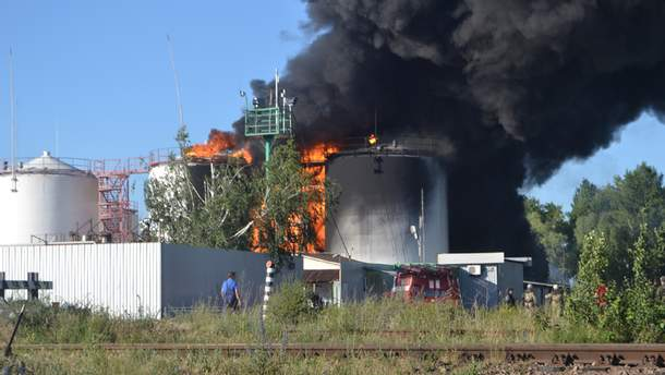 Пожежа на нафтосховищі