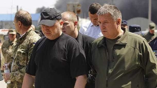 Александр Турчинов и Арсен Аваков