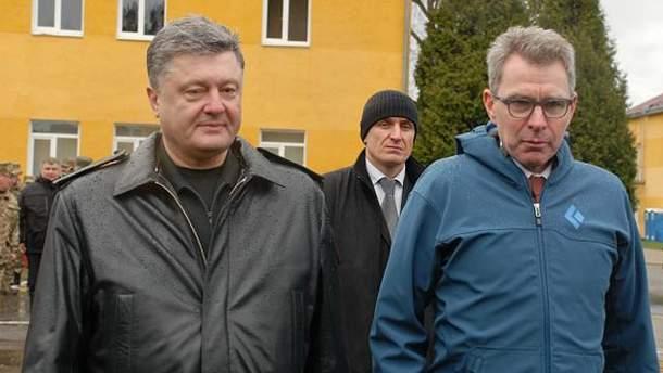 Петр Порошенко и Джеффри Пайетт