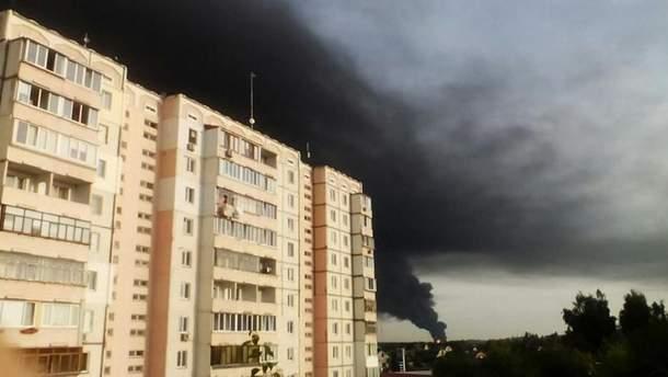 Пожежа на нафтобазі під Васильковом