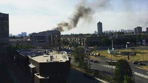 В Киеве — пожар