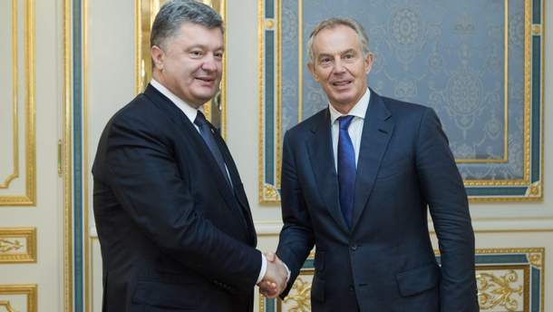 Петр Порошенко и Тони Блэр
