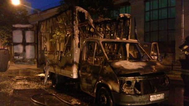 Спалена вантажівка