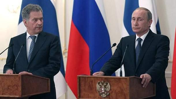 Саулі Ніісто і Володимир Путін