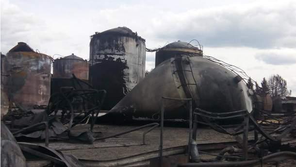 Нефтебаза после пожара