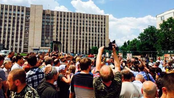 Митинг в Донецке 15 июня