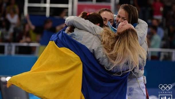 Украинские саблистки на Европейских играх
